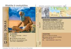 Biblijos kortelė apie Jobą