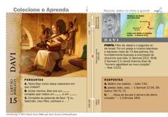 Cartão bíblico de Davi