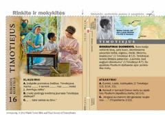 Biblijos kortelė apie Timotiejų
