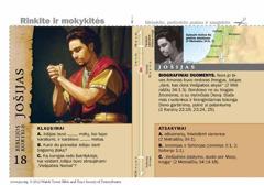 Biblijos kortelė apie Jošiją
