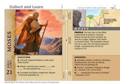 Moses Bible card