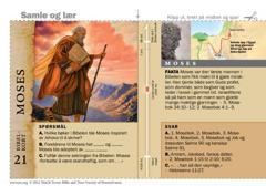 Bibelkort om Moses