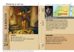 Biblická kartička– Samson