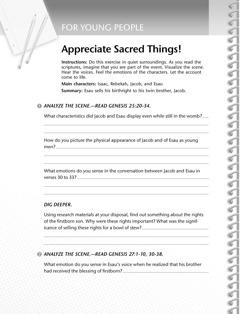 A Bible study activity