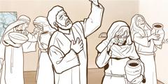Eine Frau weint, weil Tabitha gestorben ist