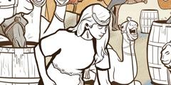 Rê-bê-ca cho các lạc đà uống nước