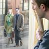 Κάποιος κύριος παρατηρεί Μάρτυρες του Ιεχωβά καθώς κηρύττουν