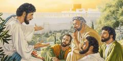 Jesus undervisar sina lärjungar