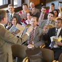 A congregation meeting
