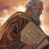 Moses carrying stone tablets