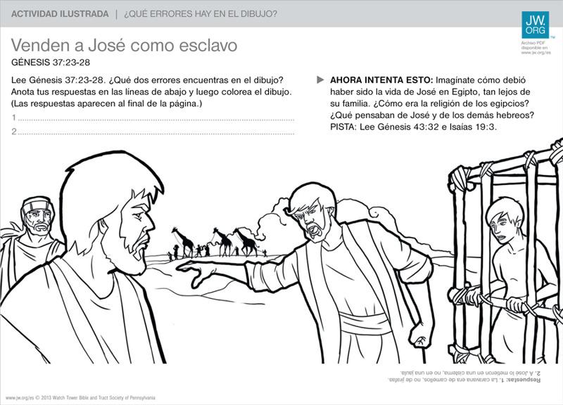 Venden a José como esclavo | Actividades ilustradas para la familia