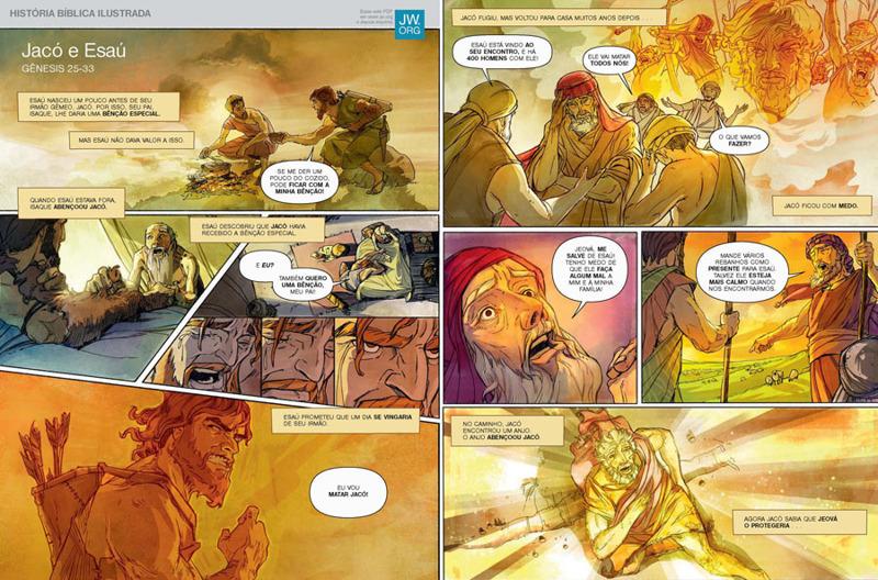 Jaco E Esau Historia Biblica Ilustrada