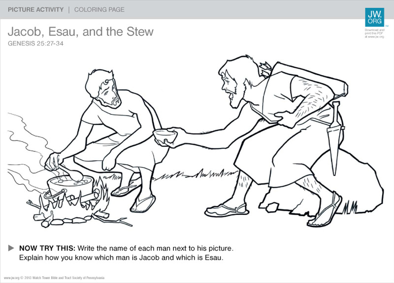 Jacob, Esau, and the Stew | Family Picture Activities