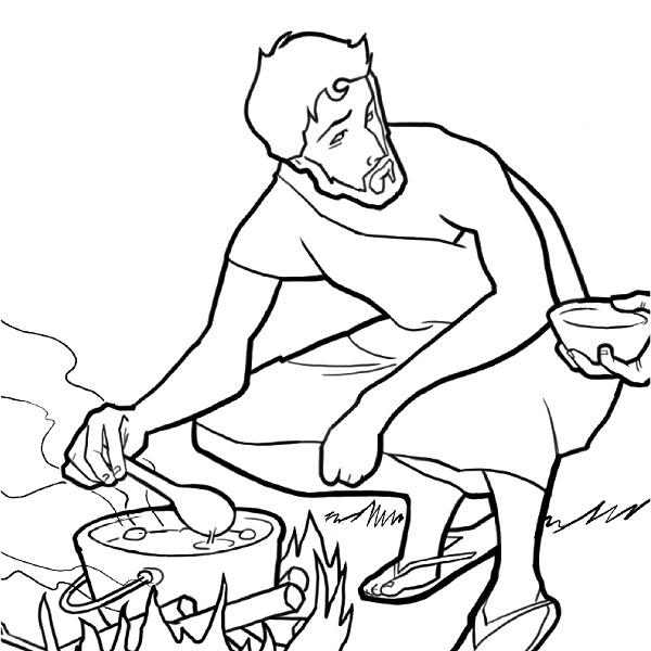 Jacob, Esaú y el guisado de lentejas | Actividades ilustradas para ...