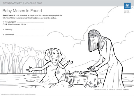 Baby Moses Is Found. Download this coloring page ...