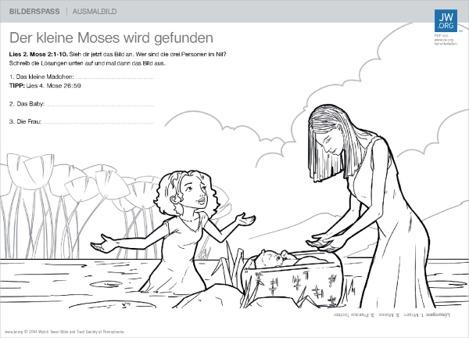 Der Kleine Moses Wird Gefunden Bilderspaß Für Die Familie