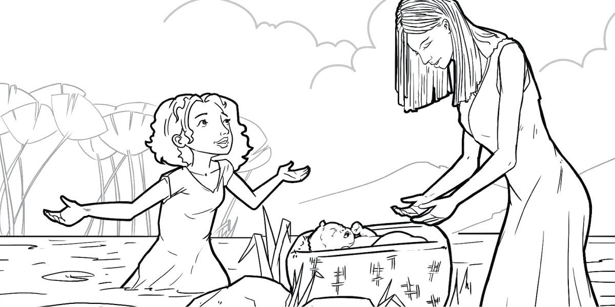 Alguien encuentra al pequeño Moisés | Actividades ilustradas para la ...