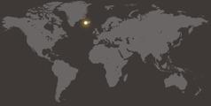 Islandia en un mapamundi