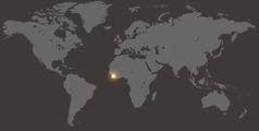 Un mapa di mundo cu ta mustra Liberia