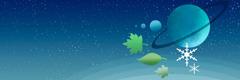科學家研究大自然的行星、恆星、雪花和樹葉