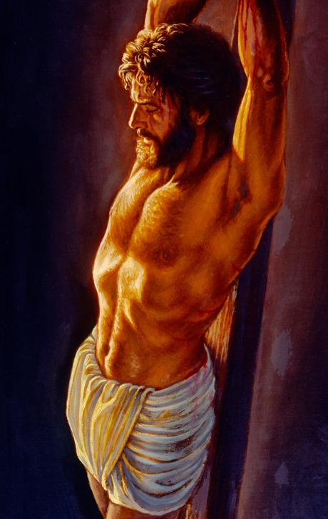 Jesus morrendo na estaca de tortura