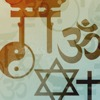 Religious symbols representing different international ways of worship