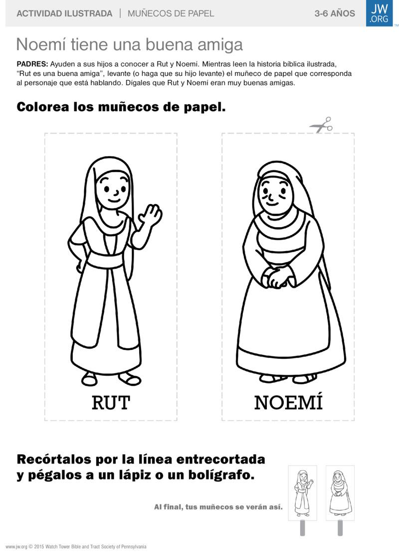 Noemí tiene una buena amiga | Actividades ilustradas para la familia