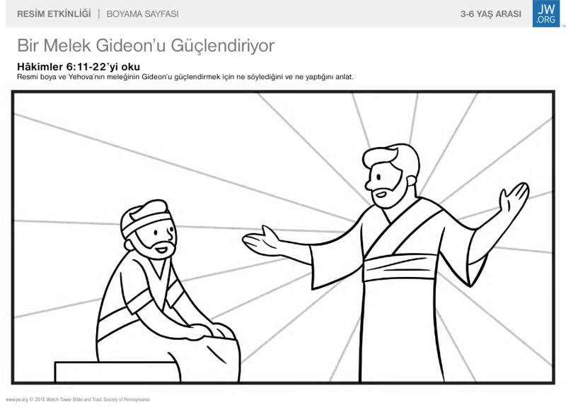 Bir Melek Gideonu Güçlendiriyor Aile Için Resim Etkinliği