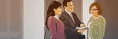 Два Свидетеля Иеговы проповедуют женщине