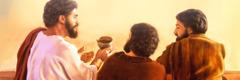Иса шәраб касасыны ики һәварисинә өтүрүр
