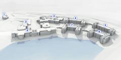 Elaborazione grafica 3D del complesso di Warwick a lavori ultimati