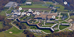 Aerial view of the branch facilities of Jehovah's Witnesses in Wallkill, New York