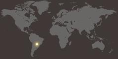 Парагвай картасында Парагвай күрсәтелә