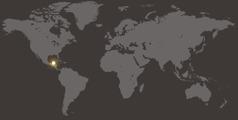 Un mapa di mundo cu ta mustra Belize