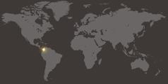 コロンビアの位置を示す世界地図