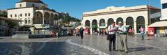 Un Témoin de Jéhovah qui prêche la bonne nouvelle en Grèce