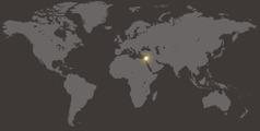 Un mapa di mundo cu ta mustra Israel