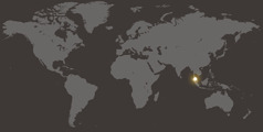Malasia en el mapamundi