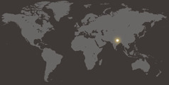 Nsi yi Nepal mu mapa yi nza