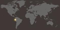 ペルーの位置を示す世界地図