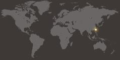 Taiwan op de wereldkaart