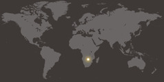 Карта мира, на которой отмечена Замбия