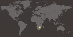 موقع زمبابوي في خريطة العالم