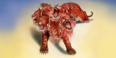 The scarlet-colored wild beast of Revelation chapter 17