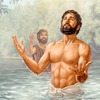 Tumingin si Jesus sa langit matapos bautismuhan sa Ilog Jordan