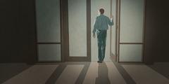 Mężczyzna wychodzi zSali Królestwa