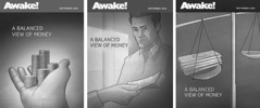 Cover designs for the September 2015 Awake! that were reviewed by the Writing Committee