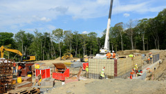 3. August 2015: Baustelle in Warwick