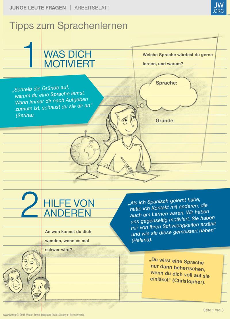 Tipps zum Sprachenlernen | Arbeitsblätter für Teenager