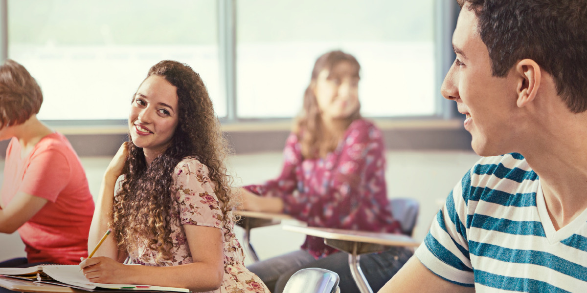How to flirt with a girl in your class